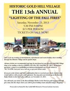 Fall Fires Flyer 2013