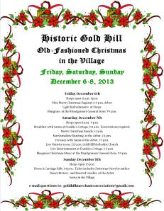 Christmas in the Village 2013 Flyer