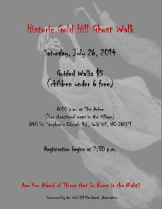 Ghost Walk Flyer 2014