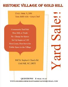 Yard Sale April 2014