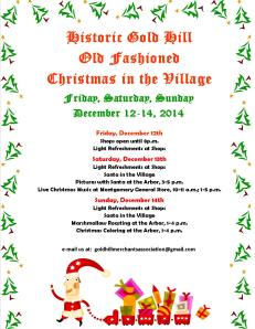 Christmas in the Village 2014 Flyer