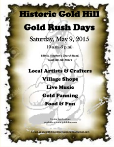 Gold Rush Days Flyer 2015