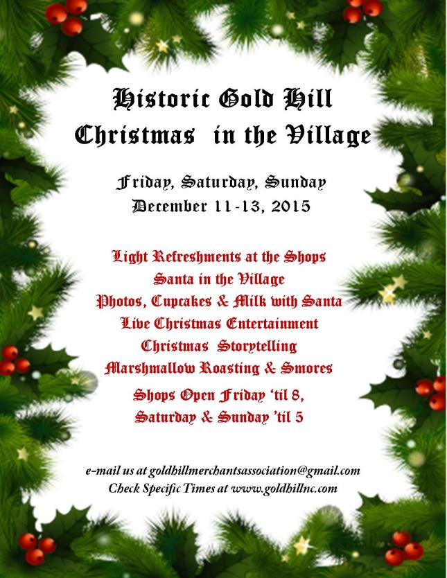 Christmas in the Village 2015 Flyer