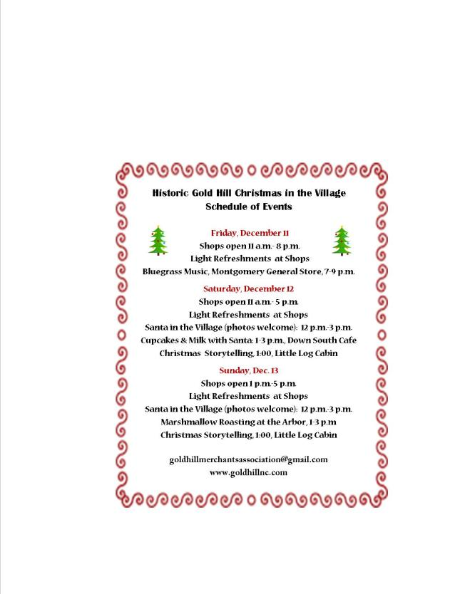 Christmas Schedule, 2015