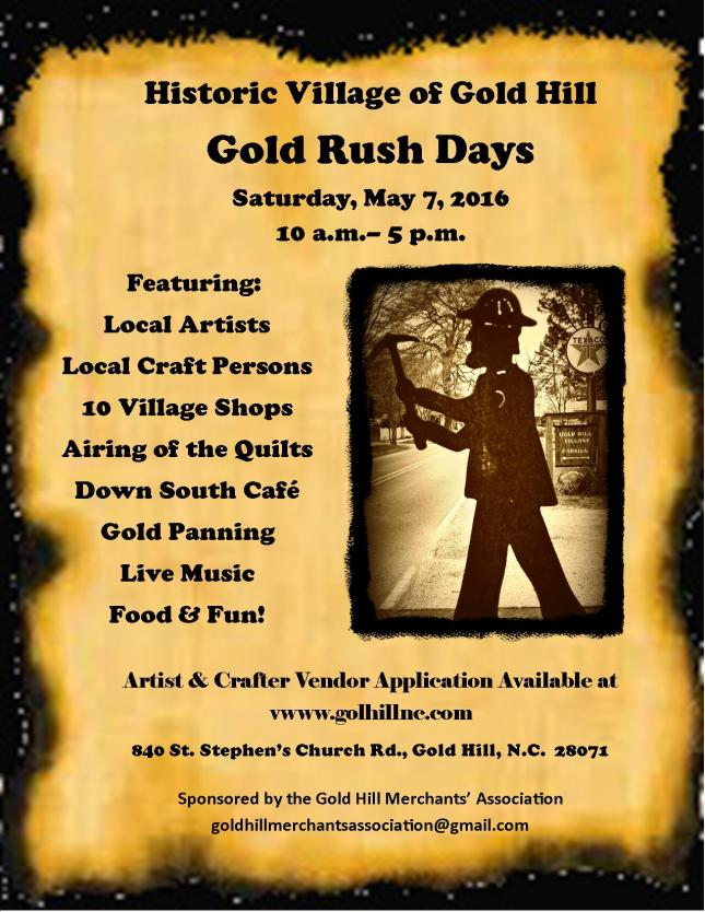 Gold Rush Days 2016 FlyerD