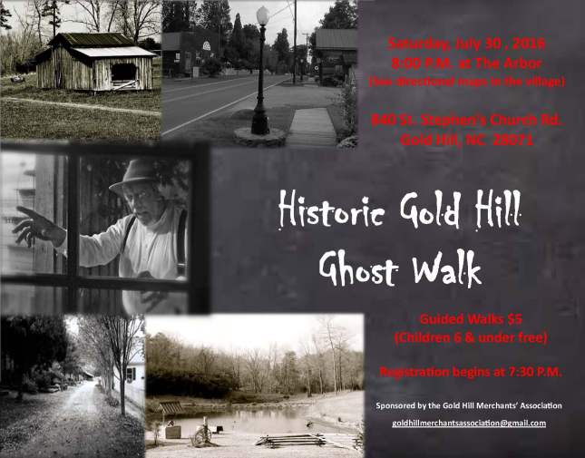 Gold Hill Ghost Walk Flyer 2016