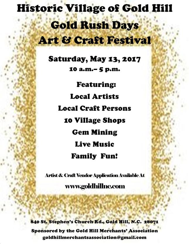 Gold Rush Days 2017 Flyer