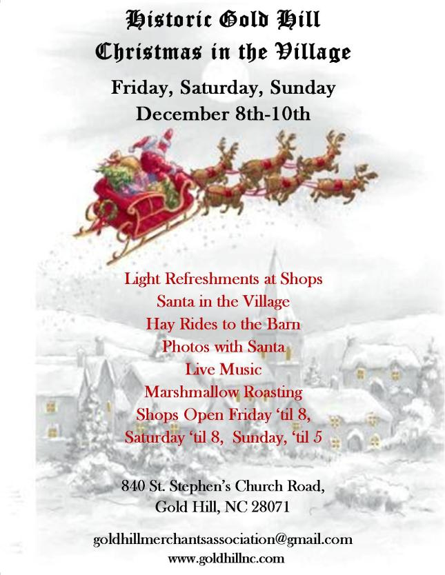 Christmas in the Village 2017 Flyer