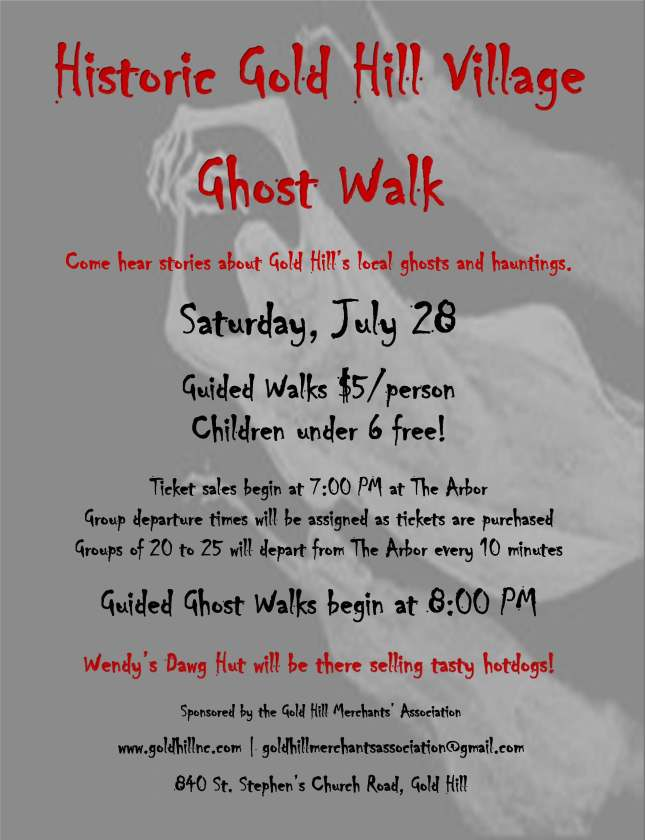 2018 Ghost Walk Poster