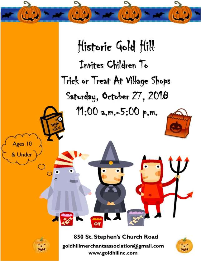 Trick or Treat Flyer 2018