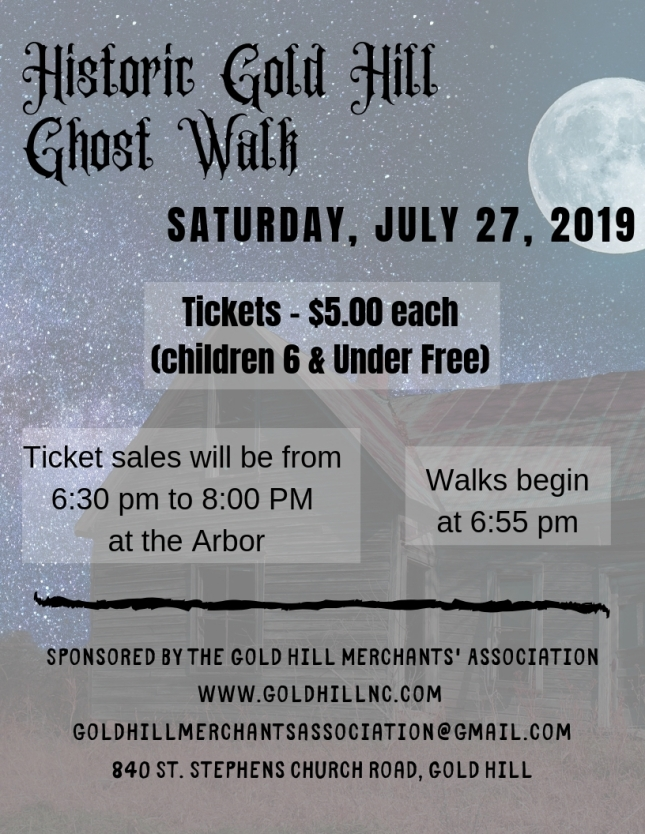 1Historic Gold Hill Ghost Walk - Poster