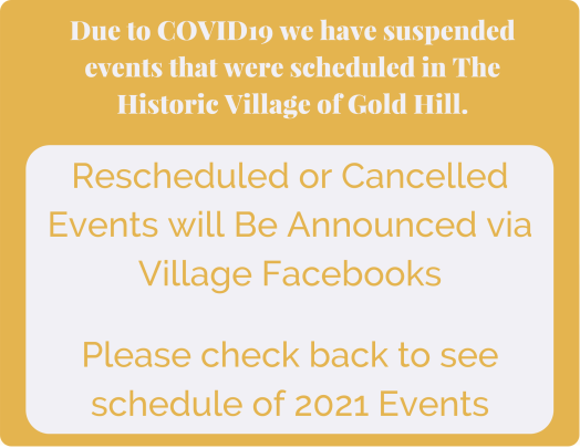 Gold Hill Flyer - Cancellation of Events